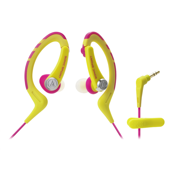 Внутриканальные наушники Audio-Technica ATH-SPORT1 Yellow/Pink наушники audio technica ath sport1 yellow