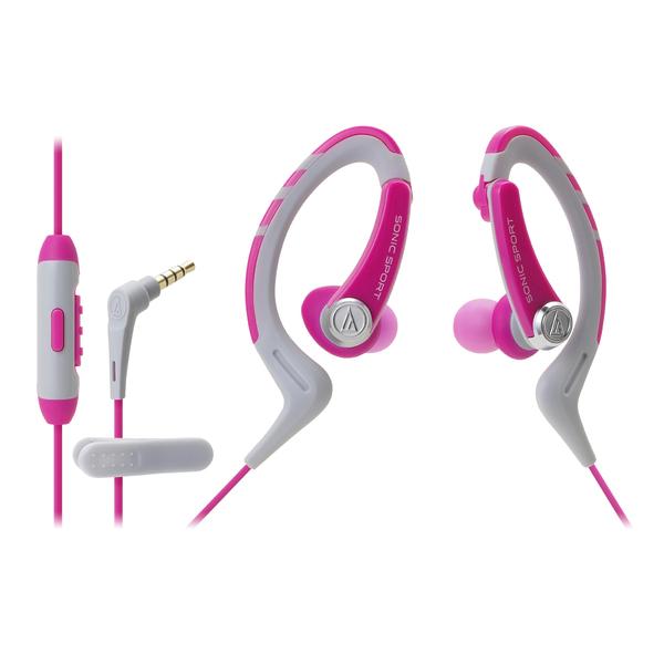 где купить Внутриканальные наушники Audio-Technica ATH-SPORT1iS Pink дешево