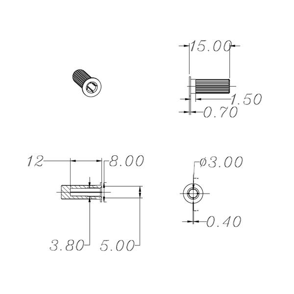 Крепёж для акустического гриля Audiocore от Audiomania
