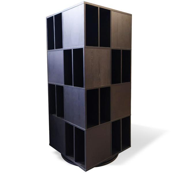 Товар (аксессуар для хранения виниловых пластинок) Audiocore Стеллаж пластинок на поворотной опоре LP512 Black