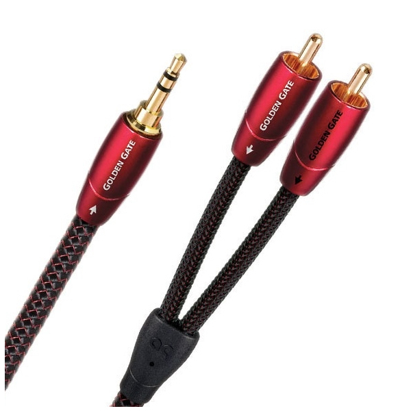 Кабель miniJack-2RCA AudioQuest Golden Gate 3 m