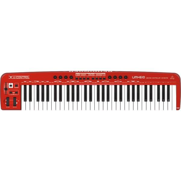MIDI-клавиатура Behringer U-CONTROL UMX610 midi клавиатура 49 клавиш samson carbon 49