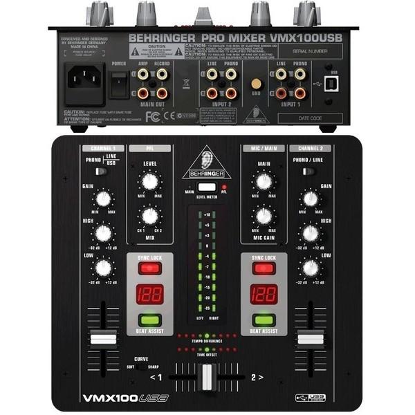 DJ микшерный пульт Behringer VMX100USB микшерный пульт с усилением behringer pmp6000 europower