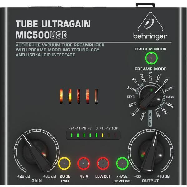 Микрофонный предусилитель Behringer MIC500USB
