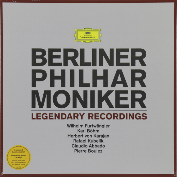 Berliner Philharmoniker Berliner Philharmoniker - Legendary Recordings (6 LP) джеймс левайн berliner philharmoniker хансйорг шелленбергер james levine mozart bellini strauss oboenkonzerte