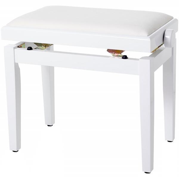 Банкетка для пианино Bespeco SG101WLVB White/Beige Velvet
