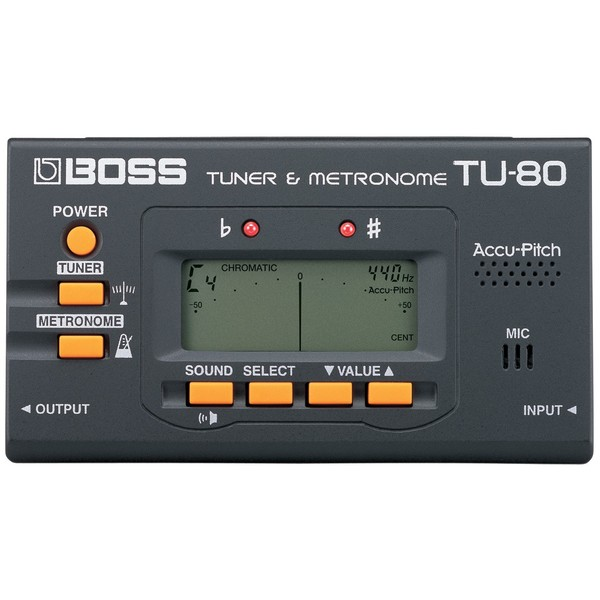 Гитарный тюнер BOSS TU-80 гитарный тюнер boss tu 10 bu