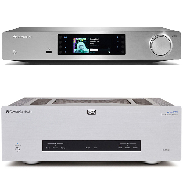 Стереоусилитель мощности Cambridge Audio Azur 851W + CXN v2 Silver стереоусилитель cambridge audio cxa 60 cxc silver