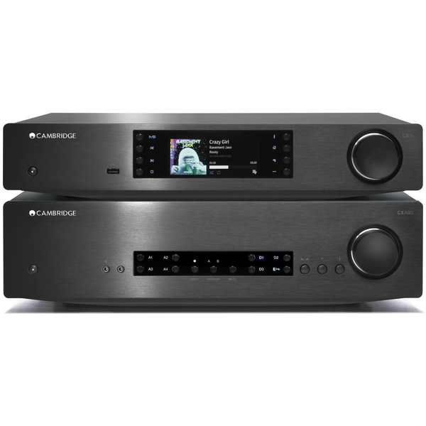 Стереоусилитель Cambridge Audio CXA 80 + CXN v2 Black cerwin vega cxa 8