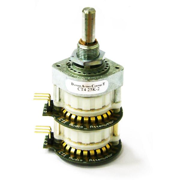 Потенциометр DACT CT4-25k-2 стерео (дискретный, балансный)