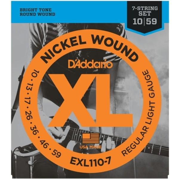 Гитарные струны DAddario EXL110-7 (для электрогитары)