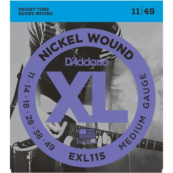 Гитарные струны DAddario EXL115 (для электрогитары)