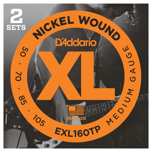 Гитарные струны D'Addario EXL160TP (для бас-гитары) ernie ball extra light nickel wound струны для электрической гитары 10 50