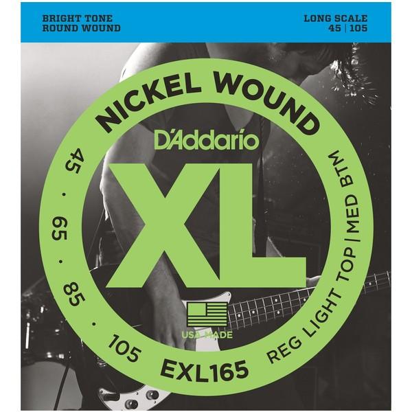 Гитарные струны D'Addario EXL165 (для бас-гитары) ernie ball extra light nickel wound струны для электрической гитары 10 50