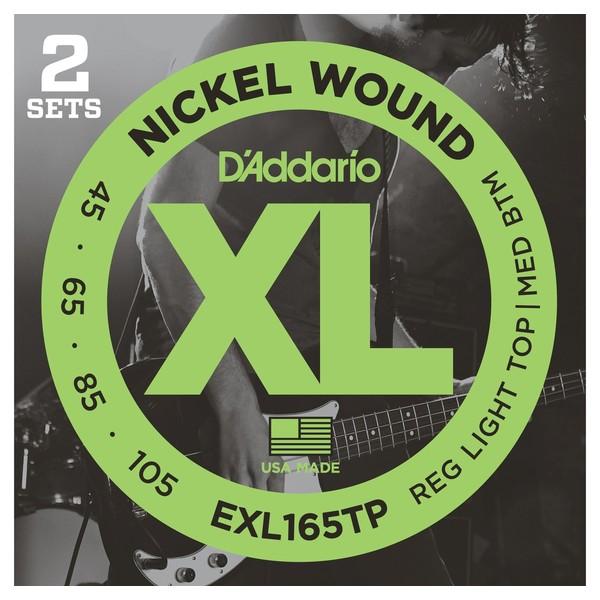 Гитарные струны D'Addario EXL165TP (для бас-гитары) ernie ball extra light nickel wound струны для электрической гитары 10 50