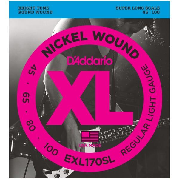 Гитарные струны D'Addario EXL170SL (для бас-гитары) ernie ball extra slinky nickel wound струны для электрической гитары 8 38