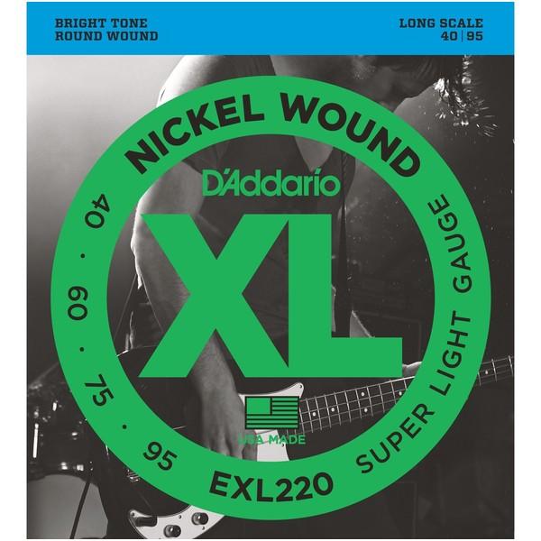 Гитарные струны D'Addario EXL220 (для бас-гитары) ernie ball extra light nickel wound струны для электрической гитары 10 50