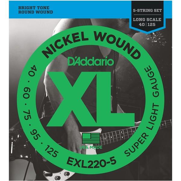 Гитарные струны D'Addario EXL220-5 (для бас-гитары) заказать бас гитары украина купить