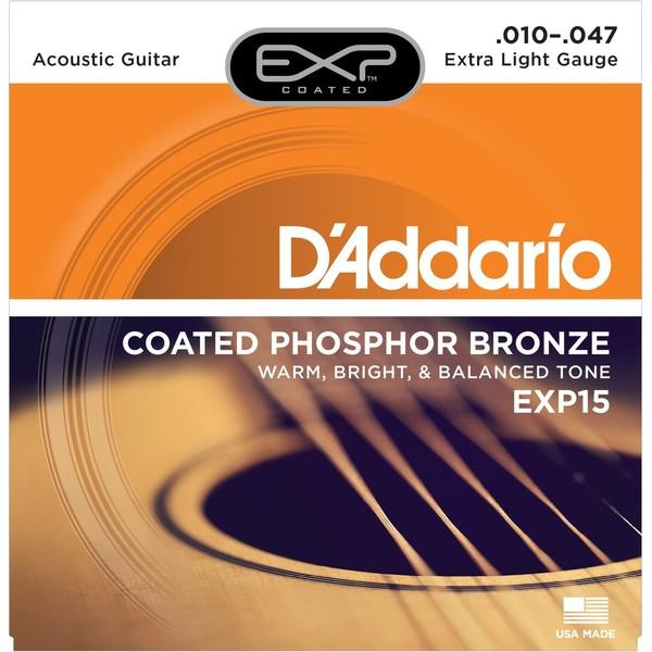 Гитарные струны DAddario EXP15 (для акустической гитары)