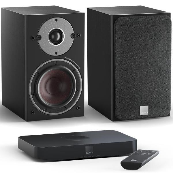 Активная полочная акустика DALI Oberon 1 C Black Ash + Sound Hub Compact