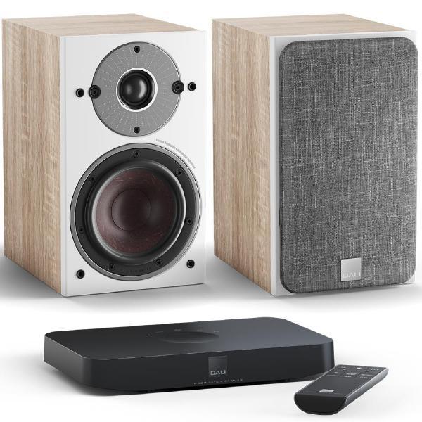 Активная полочная акустика DALI Oberon 1 C Light Oak + Sound Hub Compact