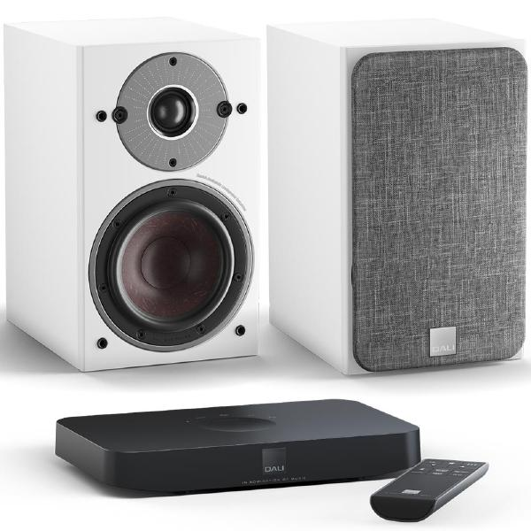 Активная полочная акустика DALI Oberon 1 C White + Sound Hub Compact