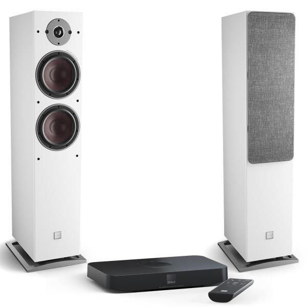 Активная напольная акустика DALI Oberon 7 C White + Sound Hub Compact