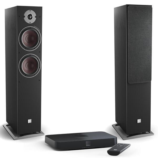 Активная напольная акустика DALI Oberon 7 C Black Ash + Sound Hub Compact