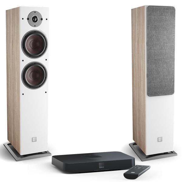 Активная напольная акустика DALI Oberon 7 C Light Oak + Sound Hub Compact