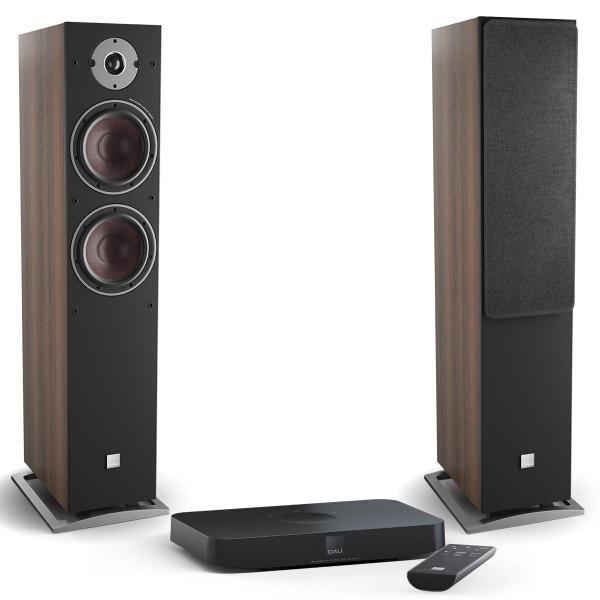 Активная напольная акустика DALI Oberon 7 C Dark Walnut + Sound Hub Compact
