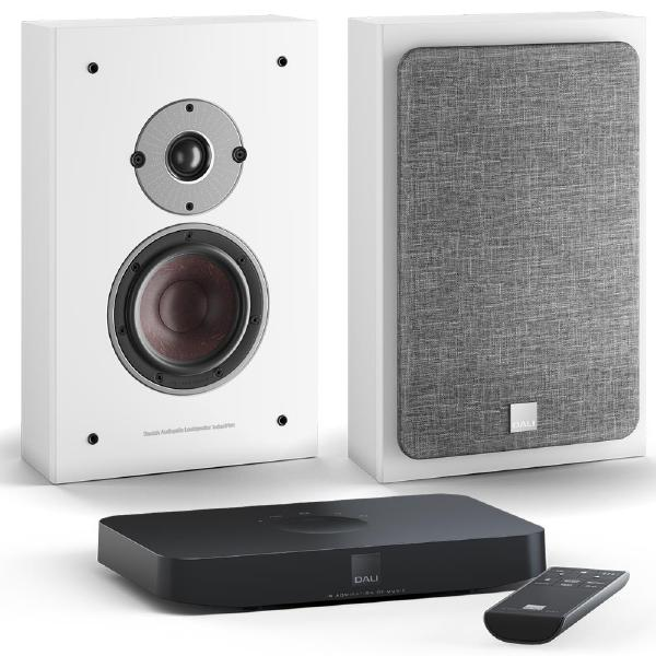 Настенная акустика DALI Oberon On Wall C White + Sound Hub Compact