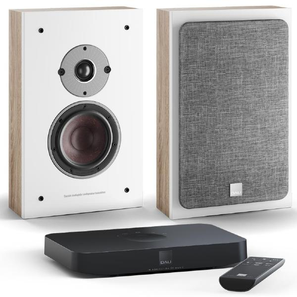Настенная акустика DALI Oberon On Wall C Light Oak + Sound Hub Compact