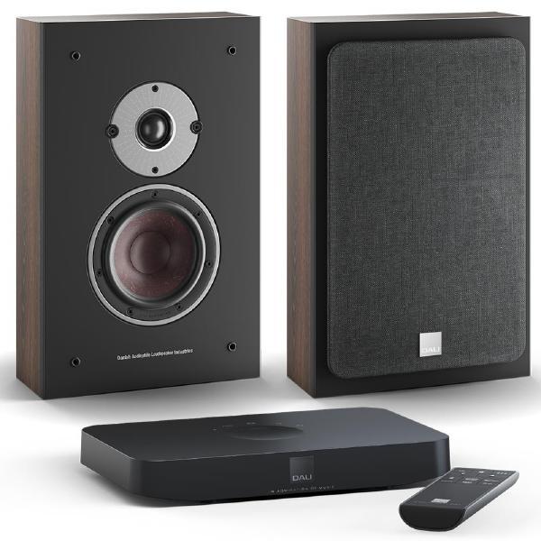 Настенная акустика DALI Oberon On Wall C Dark Walnut + Sound Hub Compact
