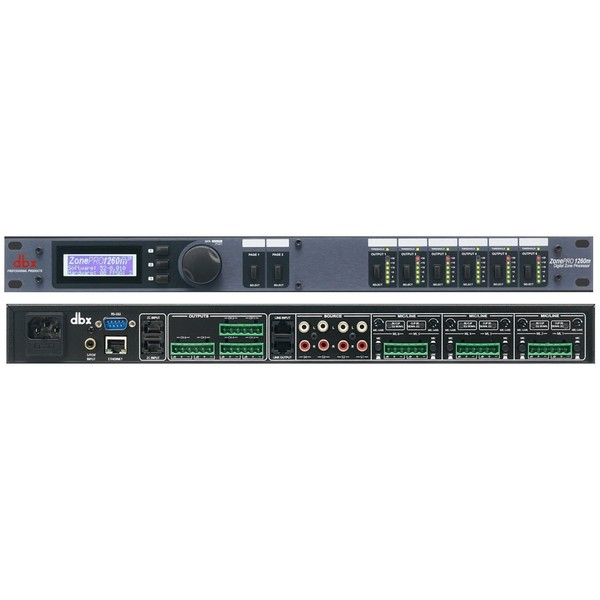 Контроллер/Аудиопроцессор dbx ZonePRO 1260m аудио разветвитель dbx sc 234xl pk