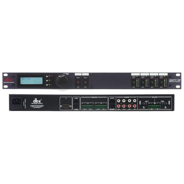 Контроллер/Аудиопроцессор dbx ZonePRO 640 контроллер аудиопроцессор dbx driverack 260