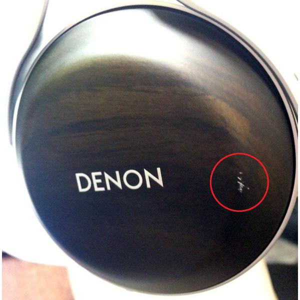 Охватывающие наушники Denon AH-D5200 Wood (уценённый товар) беспроводные наушники denon ah c160w blue уценённый товар