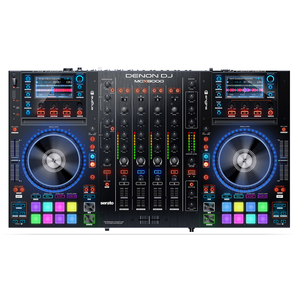 DJ контроллер Denon MCX8000 freeshpping 8 unit 3 10w rgbw 4in1 freedom dj led par cans iron silver case dmx wash light pro dj lights 7 channels big lens