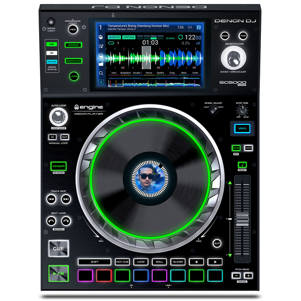 DJ контроллер Denon SC5000 Prime original onn x5 hifi audio player mp3 dac player with 2 screen 8gb lettore with fm support ape flac alac wav wma ogg mp3