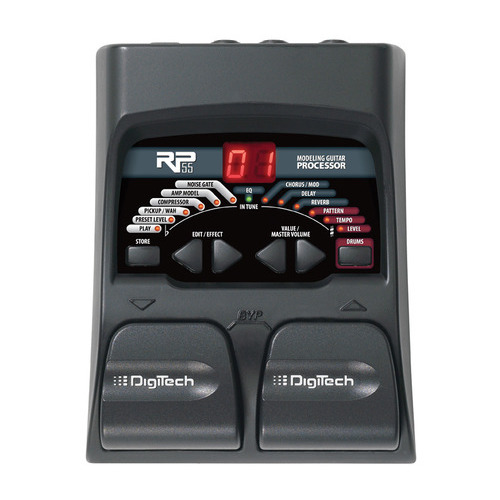 Гитарный процессор Digitech RP55 процессор эффектов lexicon mx400xl
