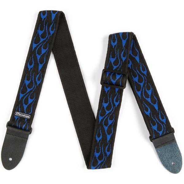 Ремень для гитары Dunlop D3811BL Classic Flambe Blue