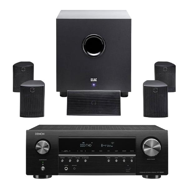 Комплект домашнего кинотеатра ELAC Cinema 5 Black + Denon AVR-S650H