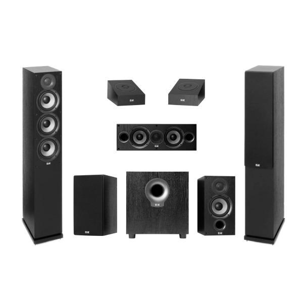 Комплект акустики ELAC 5.1.2 Debut Atmos Black