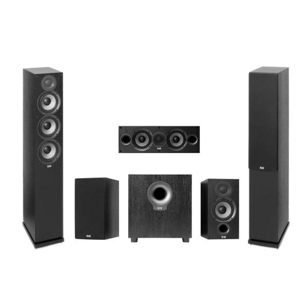 Комплект домашнего кинотеатра ELAC Debut Black + Denon AVR-X550BT