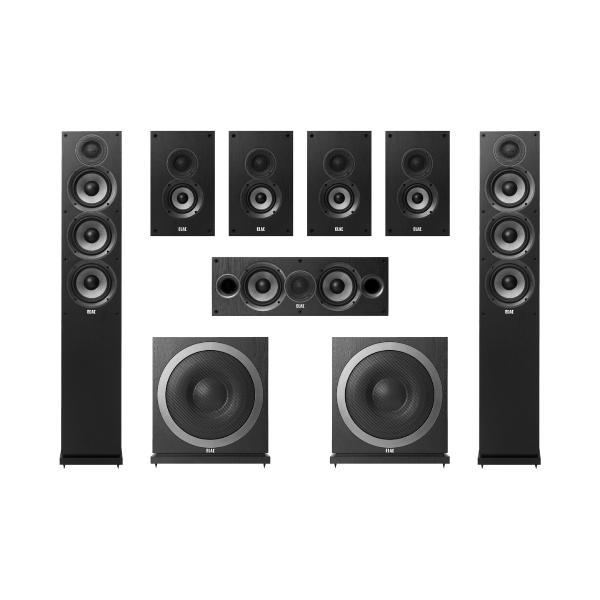 Комплект домашнего кинотеатра ELAC Debut Black + Denon AVR-X1600H