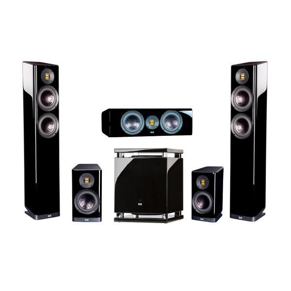 Комплект домашнего кинотеатра ELAC Vela High Gloss Black + Arcam AVR30