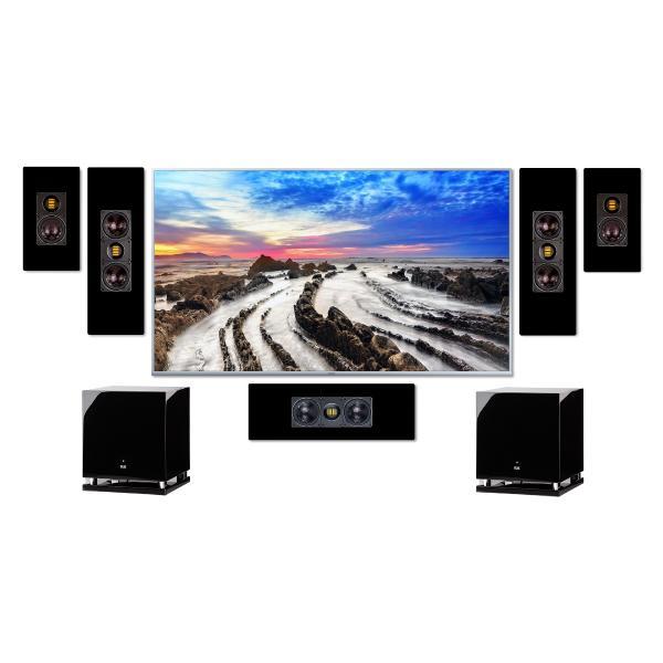 Комплект домашнего кинотеатра ELAC WS Black + Arcam AVR20