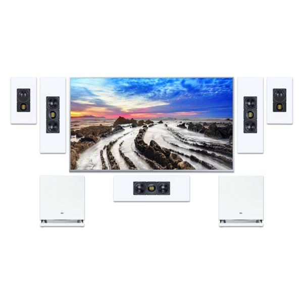 Комплект домашнего кинотеатра ELAC WS White + Arcam AVR20 Black настенная акустика elac ws 1665 white 1 шт