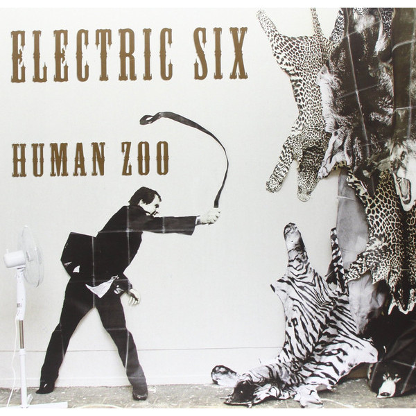 Electric Six Electric Six - Human Zoo long sleeve lace back cold shoulder t shirt