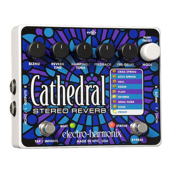 Педаль эффектов Electro-Harmonix Cathedral педаль wah electro harmonix nano doctor q