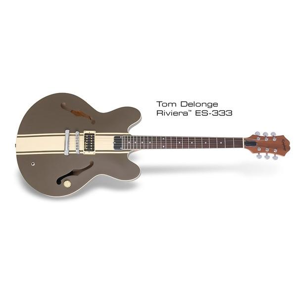 Гитара полуакустическая Epiphone TOM DELONGE SIGNATURE ES-333 BROWN гитара полуакустическая epiphone es 339 natural